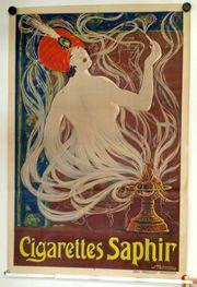 Original antikes Reklame Plakat um