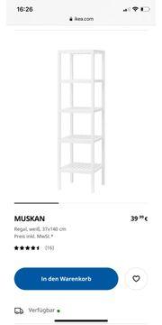 IKEA Muskan Badmöbel dunkelbraun