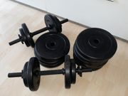 Kurzhanteln mit Gewichten