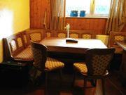 Eckbank Tisch u 2 Stühle