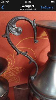 2 Vasen aus Zinn mit
