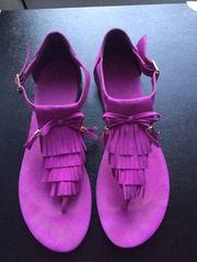 Pinkfarbene Sandalen Zehentrenner Gr 40