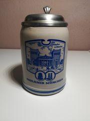 Bierkrug mit Deckel 0 5