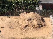 Sand Sandaushub zum verfüllen kostenlos