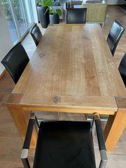 Esszimmer Massivholz Tisch Eiche mit