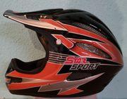 Cross-Helm Downhill-Helm Schwarz-Orange