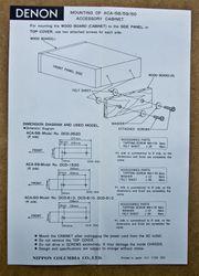 Denon ACA - 60 Seitenteile gebraucht