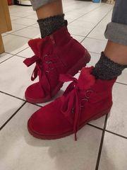 Rote boots schuhe 38 damen