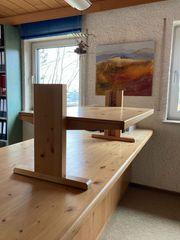 Echtholz Stehschreibtisch-Aufsatz für Homeoffice