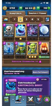 Clash Royale Account - 61 Karten