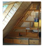 Raumteiler Mansarde Dachwohnung Regal Wohnung