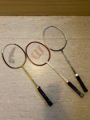3 Badmintonschläger mit 2 Taschen