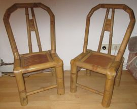 Sonstiges für den Garten, Balkon, Terrasse - 2 Stück Bambus Stühle für