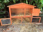 Kaninchenhaus Gehege