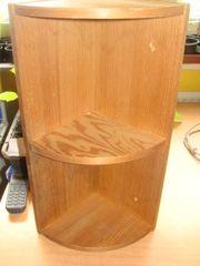 Eckregal helles Holz Höhe 45cm