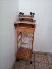 Kuechenrollwagen Holz