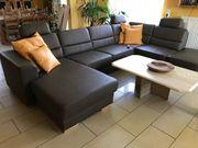U-formiges Sofa Wohnlandschaft in braunem