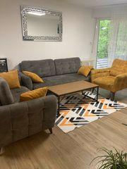 Sofa Set mit Kasten und