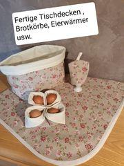 Fertige Tischdecken Brotkörbe Eierwärmer usw