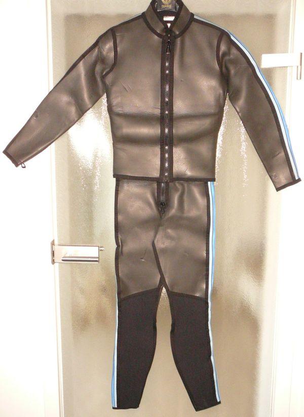 Neopren-Anzug 2-teilig schwarz Gr 94