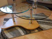Wohnzimmertisch Buche-Glas Kombination