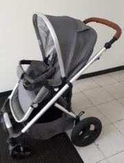 Kinderwagen mit Sportaufsatz und Babyschale