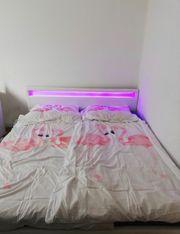 Doppelbett mit LED inklusive Matratze