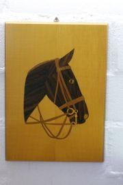 Bild Pferdekopf Furnierarbeit
