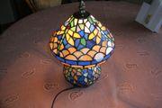 Wunderschöne Tiffany-Tischleuchte LIBELLE Glas H