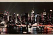 Wandbild Stadt bei Nacht