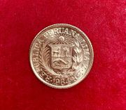 2 Goldmünzen 1964 Peru Indianer