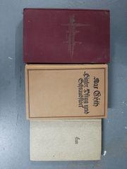 3 alte Bücher Dina von