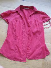 Rote luftige Bluse Gr M