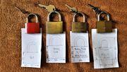 Vorhängeschlösser Messing Schlüssel