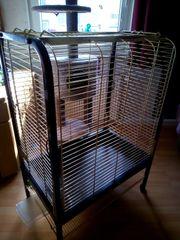 Papageienkäfig oben mit freisitz auf