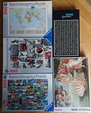 Puzzle-Sammlung preiswert abzugeben