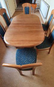 Verkaufe Esszimmertisch mit 6 Stühlen