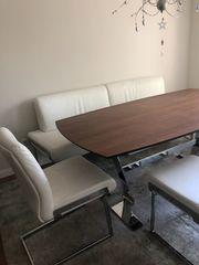 Designer-Esstischgruppe JOOP Esstisch Tischgruppe Esstischstühle
