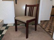 Esstisch-Garnitur mit 4 Stühlen Mahagoni