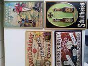 Zu verkaufen 6 alte metallwerbeschilder