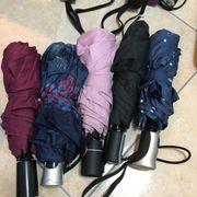 5x Regenschirme Regenschirm Taschen Taschenschirme