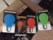 Ersatz Lampen farbig e27 für