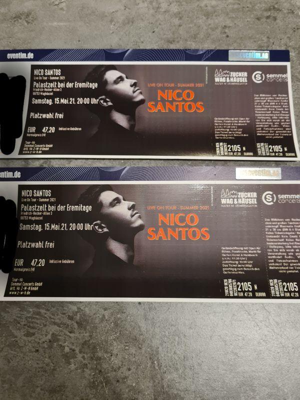 Tourtickets Nico santos waghäusel 2021