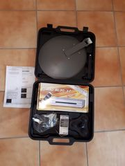 Camping Satellitenschüssel mit Receiver im
