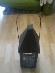 Windlicht Metall schwarz Windlicht Ton