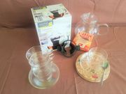 Glaskannen - Teegläser - Halter - Filter Untersetzer
