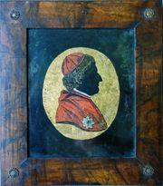 Eglomisé Hinterglasbild Blattgold PYRKER Fürstbischof