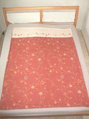 Bettwäsche 3-teilig 135x200 cm rubinrot