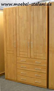 Kleiderschrank Erle mit Schubladen 3-trg