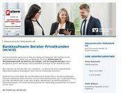 Bankkaufmann Berater Privatkunden m w
